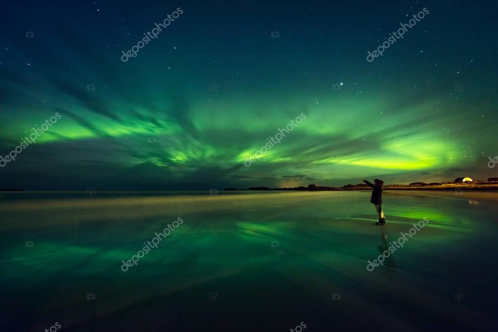 Amazing view on the northern lights