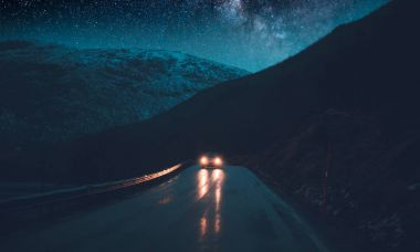 Norway adventures, nighttime road trip