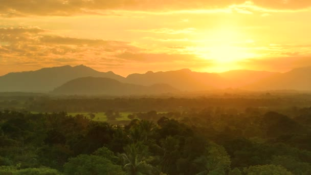 Amazing view of Sri Lanka in sunset. Full HD Video