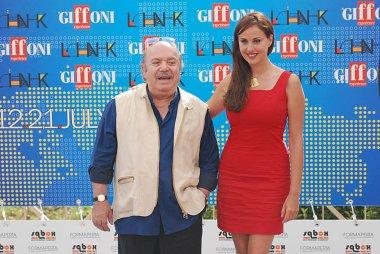 Giffoni Valle Piana, Salerno, Italia - 21 Luglio, 2011 : Lino Banfi e Isabelle Adriani al Giffoni Film Festival 2011 - il 21 Luglio, 2011 a Giffoni Valle Piana, Italia