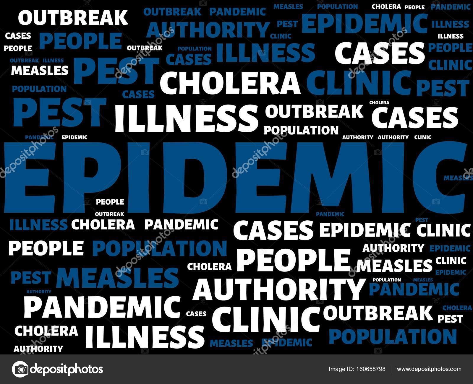Epidemic Image With Words Associated With The Topic Epidemic Word