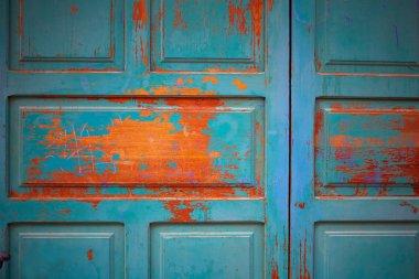 Zamora wooden door textures in Spain