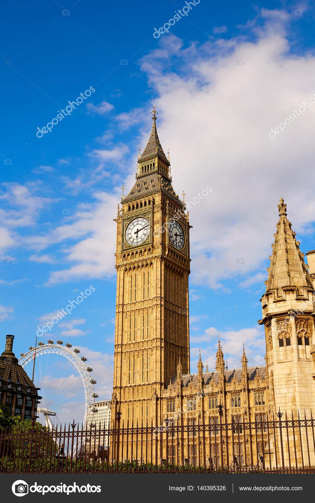 Big Ben Clock Tower in London England — Stock Photo © TONO ...