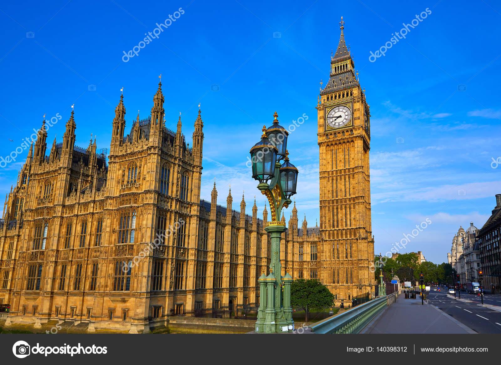Torre Do Relógio Big Ben Em Londres-Inglaterra