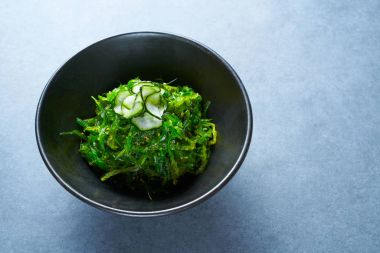 Algae salad with cucumber sesame and soya