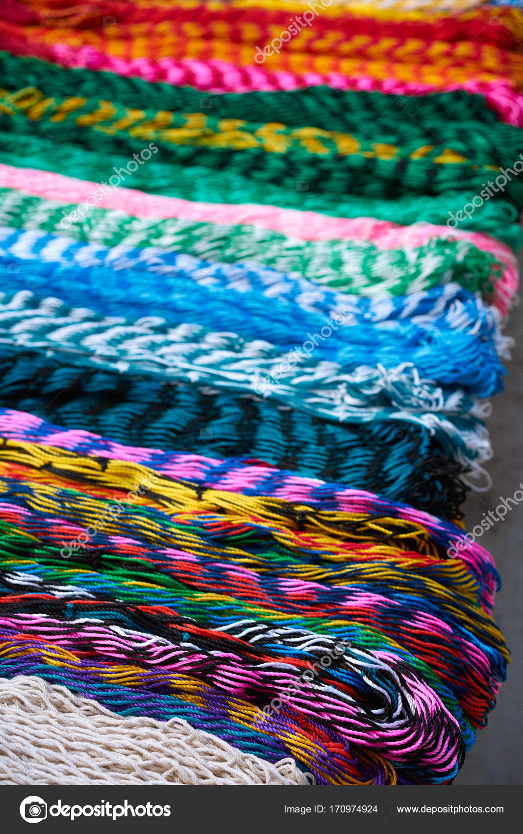 chichen itza colorful hammocks in mexico  u2014 stock photo chichen itza colorful hammocks in mexico  u2014 stock photo      rh   depositphotos