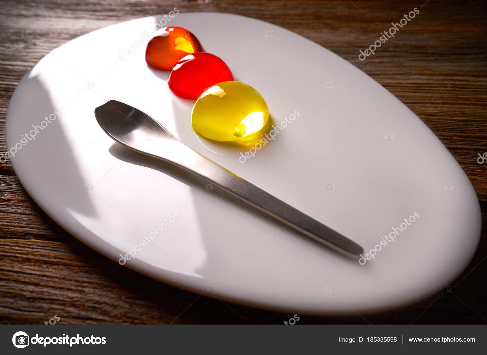 Spheritions concetto di cucina molecolare struttura della gelatina