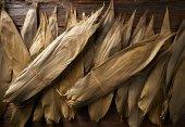 Bambusz szárított levelek barna Zongzi recept