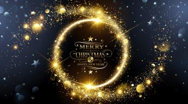 Christmas frame with stars
