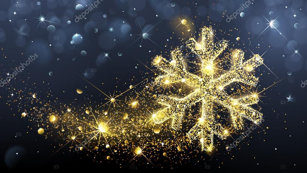 Christmas magic snowflake