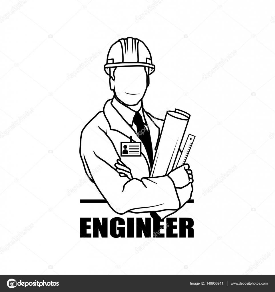Engineer Man Engineer Man Logo Engineer Man Silhouette Engineer