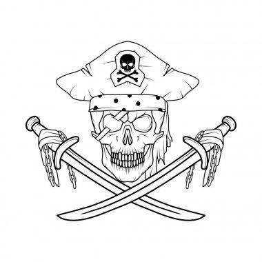 Vector Image Pirate Skull
