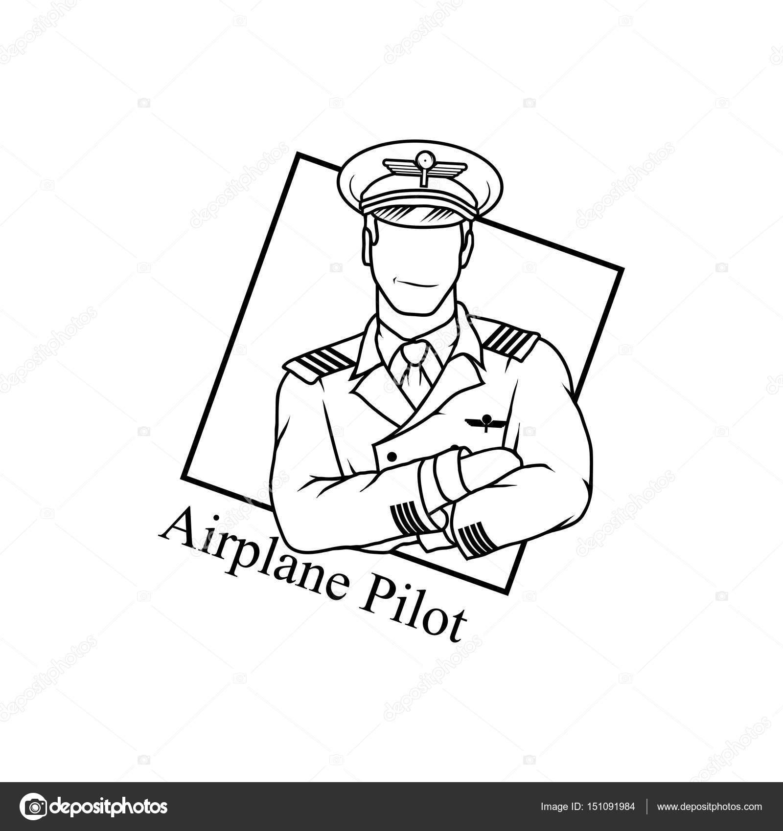 Vector logo pilota immagine — Vettoriali di storozhukviktorka.gmail.com cbb42dc4eb25