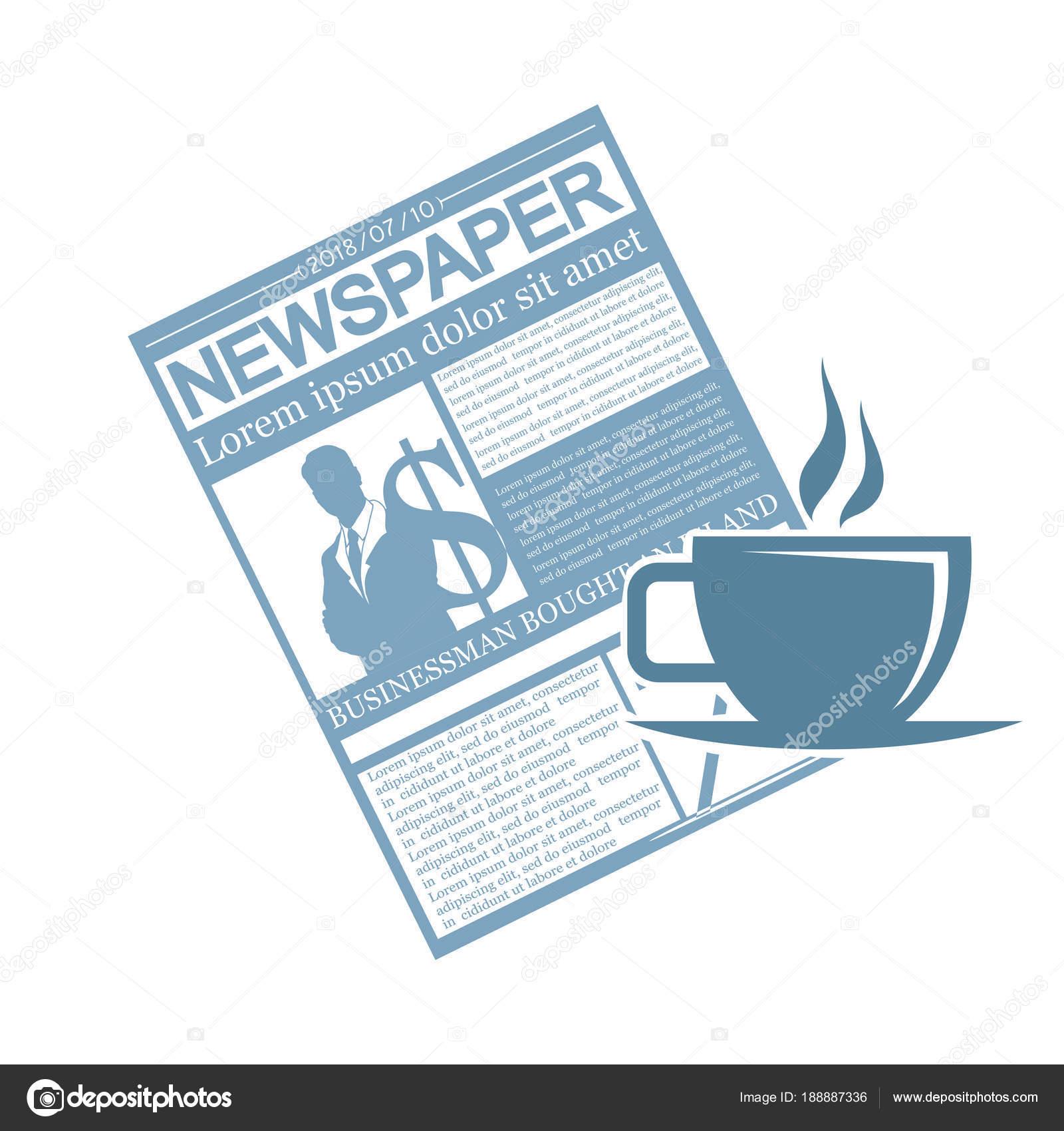 Periódico Plantilla Periódico Concepto — Vector de stock ...