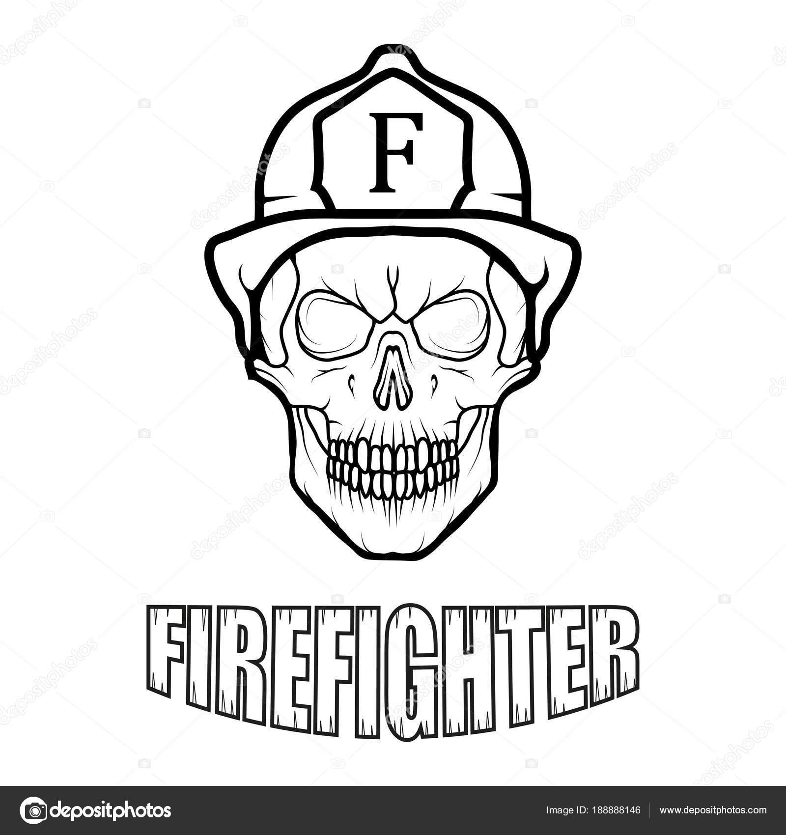 Relatively Firefighter Logo Fire Department Human Skull Firefighter Helmet  FQ99