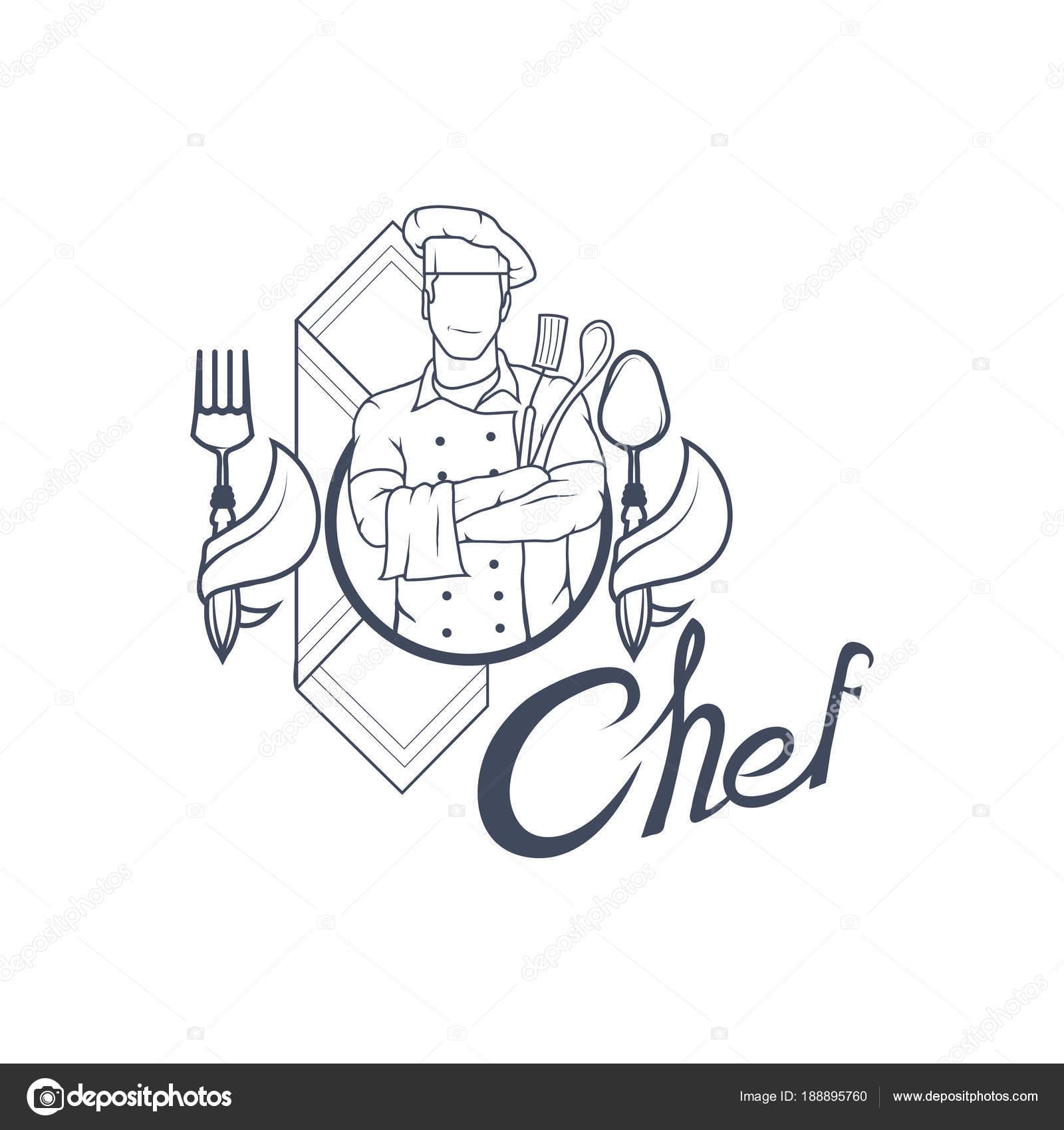 Imágenes Logos De Cocineros Chef Cocinero Insignia