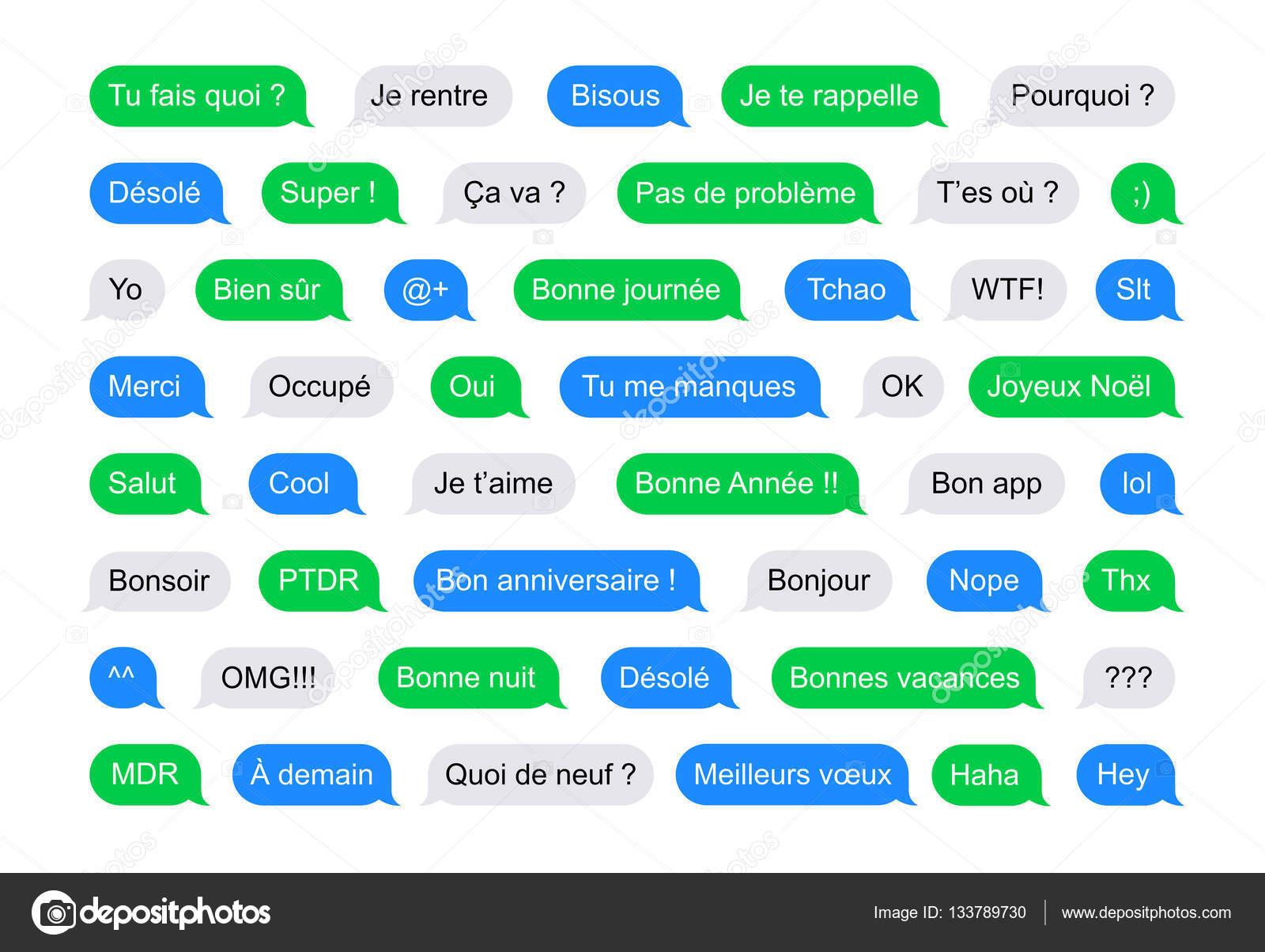 смс пузыри короткие сообщения на французском языке