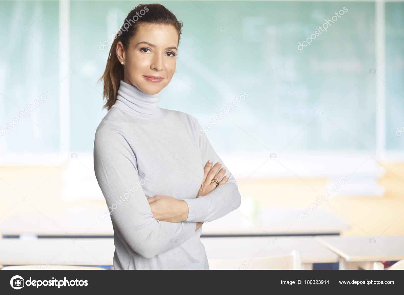 Girl mature teacher