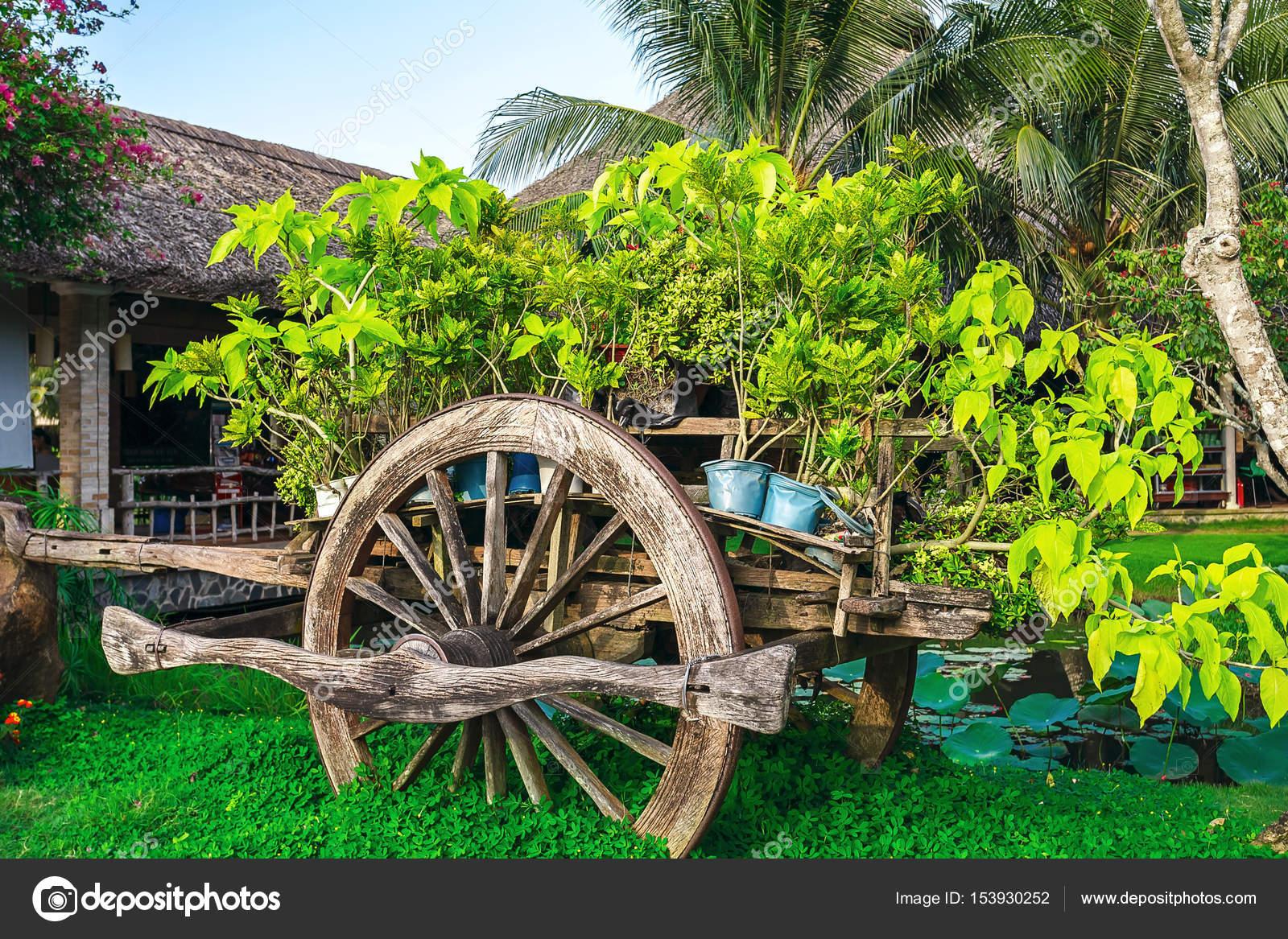 Cart, decoration, garden, Park — Stock Photo © SergeyTimofeev #153930252