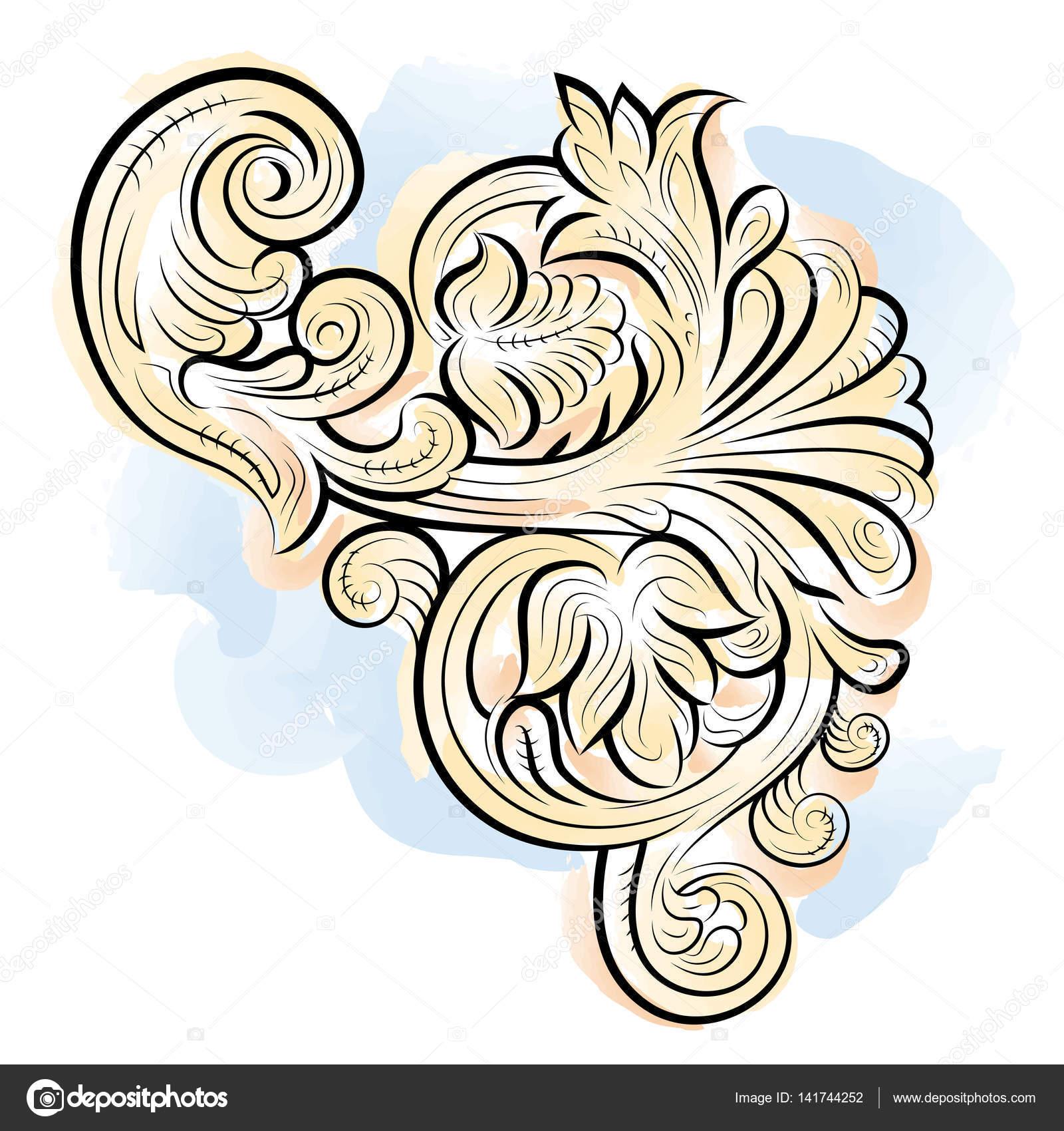 Patrón de color de dibujo con hojas, Vladimir, Rusia — Archivo ...