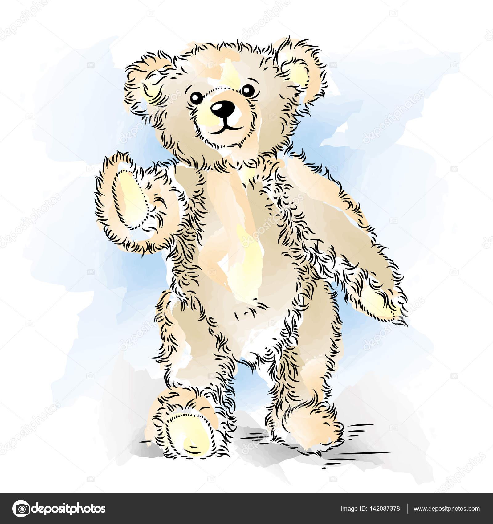 Dessin ours en peluche illustration vectorielle de couleur image vectorielle mirumur 142087378 - Dessin ours en peluche ...