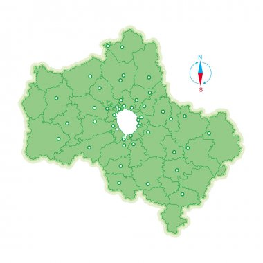 Map of Moscow Region