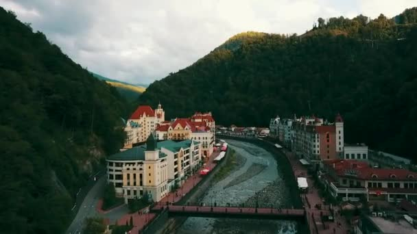 View On Ski Resort Of World Class Rosa Khutor Built For The 2014 Olympic Games
