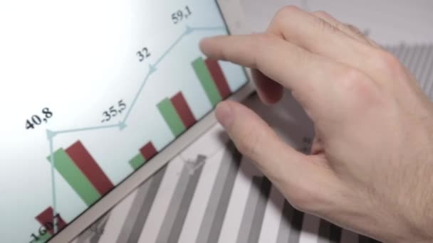 Businessman Working With Tablet Pc, Touch Pad