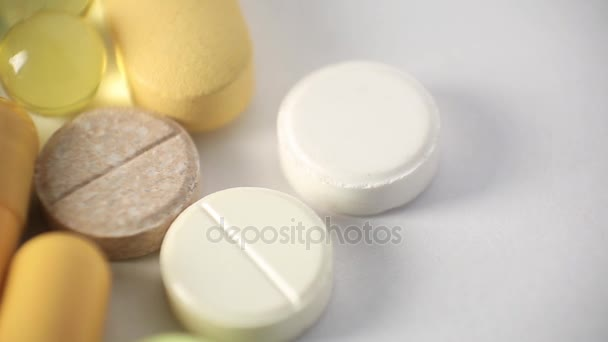 Close-Up Of Different Medication Pills