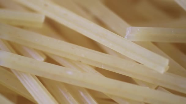 Food Spaghetti. Macro Shot. Uncooked Pasta