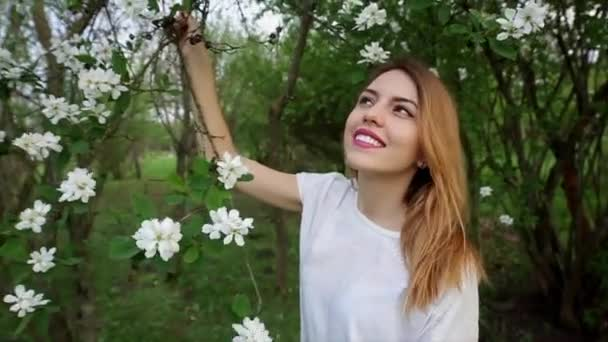 Dreamy Attractive Young Woman With Flowers Relaxing Outside