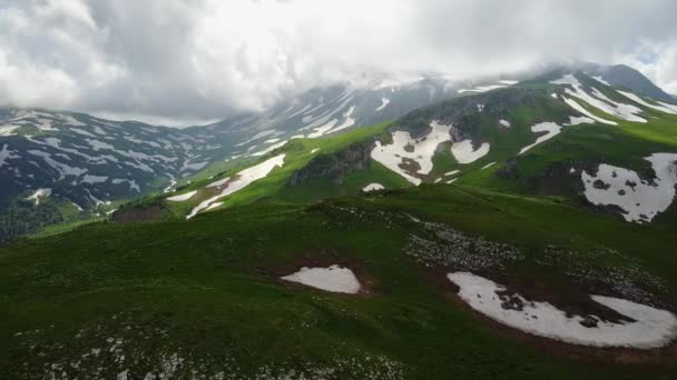 Aerial View Mountains. The Mountain Oshten. Russia.
