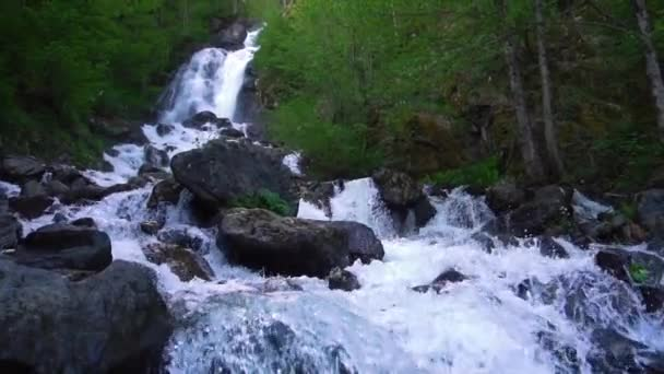 Mountain Waterfall With Clear Water