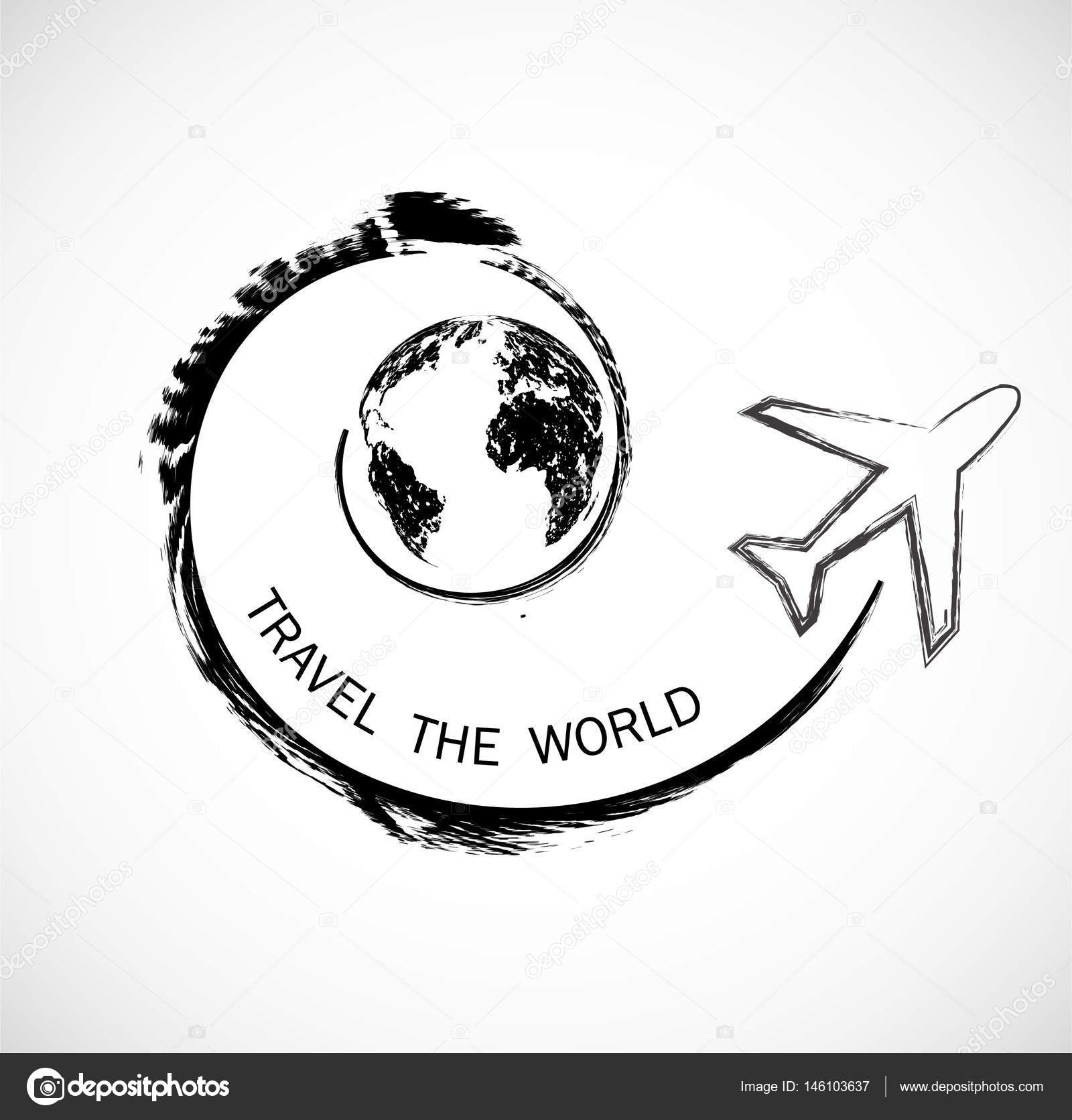Urban travel and tourism background and infographic world map urban travel and tourism background and infographic world map globe logo design gumiabroncs Choice Image