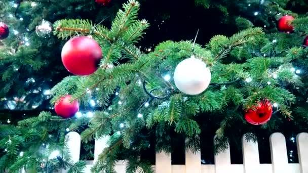 Vánoce. Panorama vánoční strom.