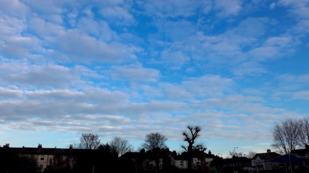 Time lapse. Beautiful and volumetric clouds slowly float across the sky.