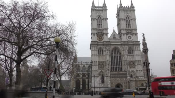Time lapse. Historic building - Westminster Abbey.