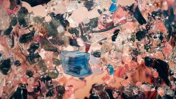 Obraz na skle. Barevné skleněné oblázky