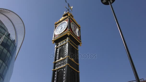 Hodinová věž s Větrná korouhvička