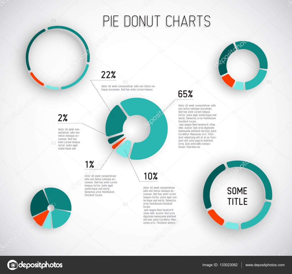 Colorful Vector Pie Chart Template Stock Vector Orson 133023082