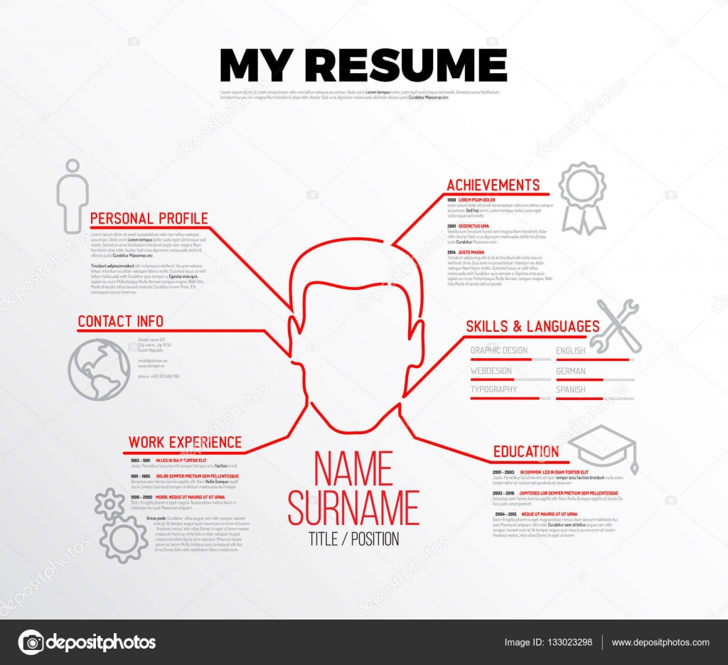 Original Minimalist Resume Template Stock Vector Orson