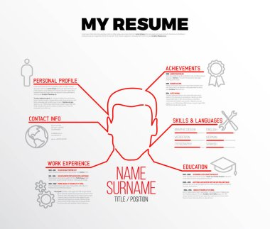 original minimalist  resume template
