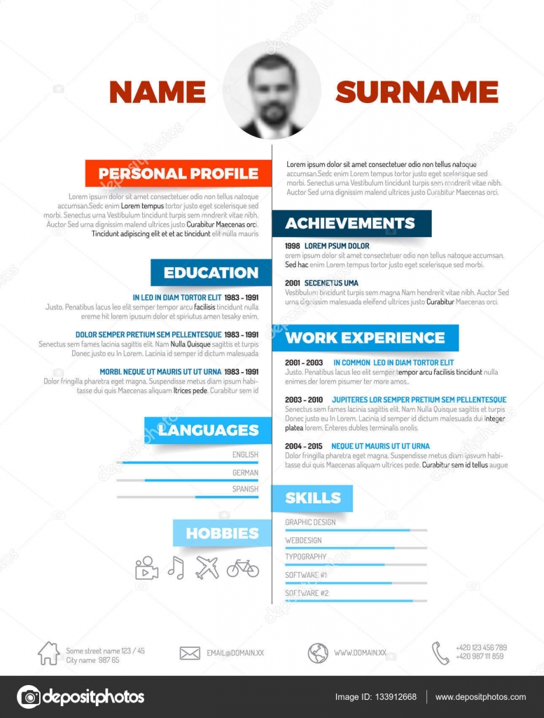 Resume template with nice typogrgaphy — Stock Vector © orson ...