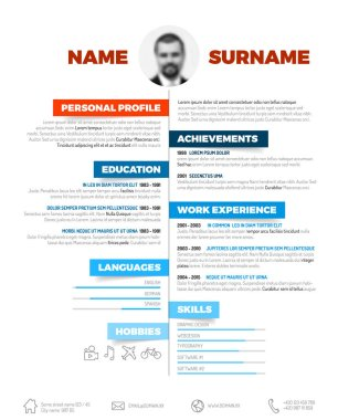 resume template with nice typogrgaphy