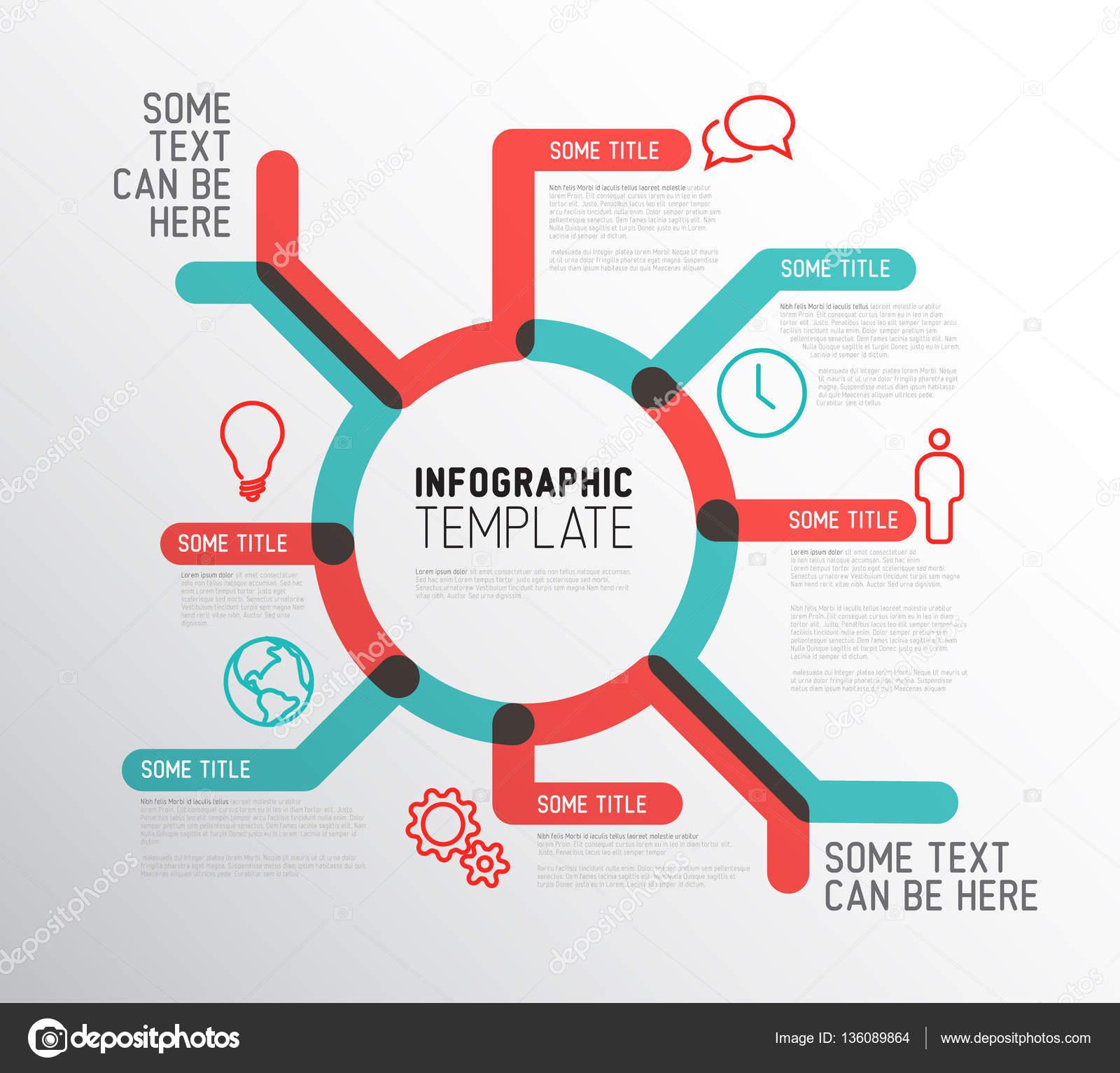 plantilla de informe infografía — Archivo Imágenes Vectoriales ...