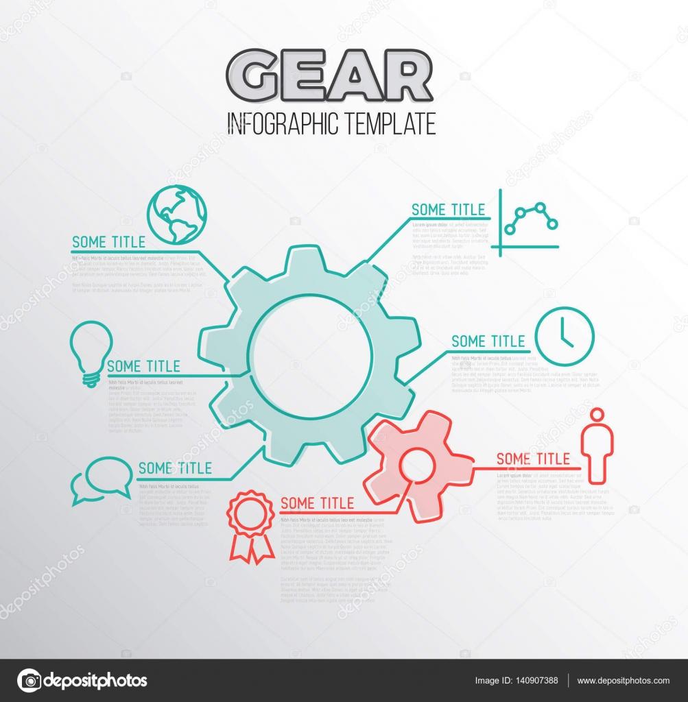 plantilla de informe infografía — Vector de stock © orson #140907388