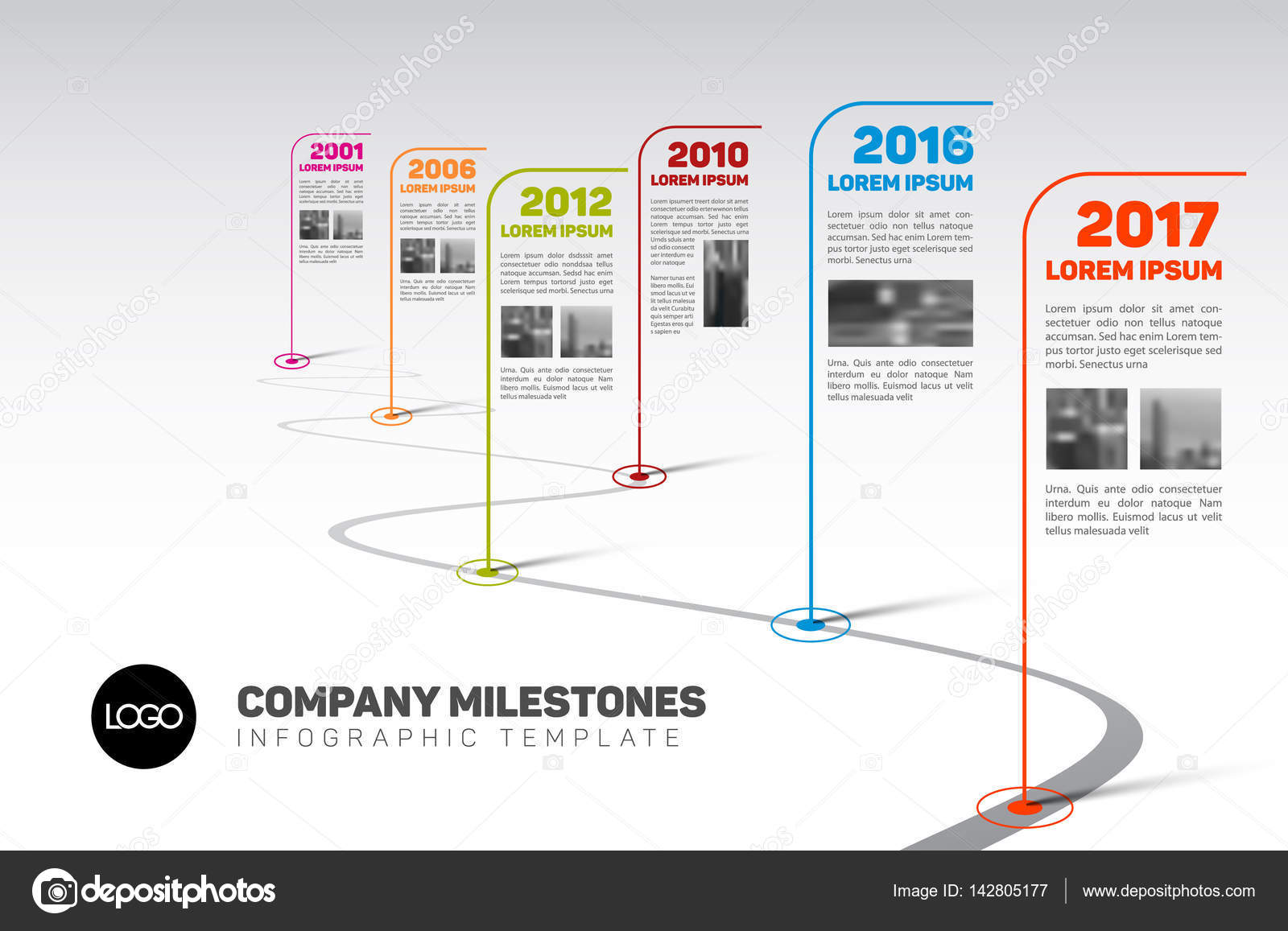 Company Milestones Timeline Template Vector orson 142805177 – Advertising Timeline Template