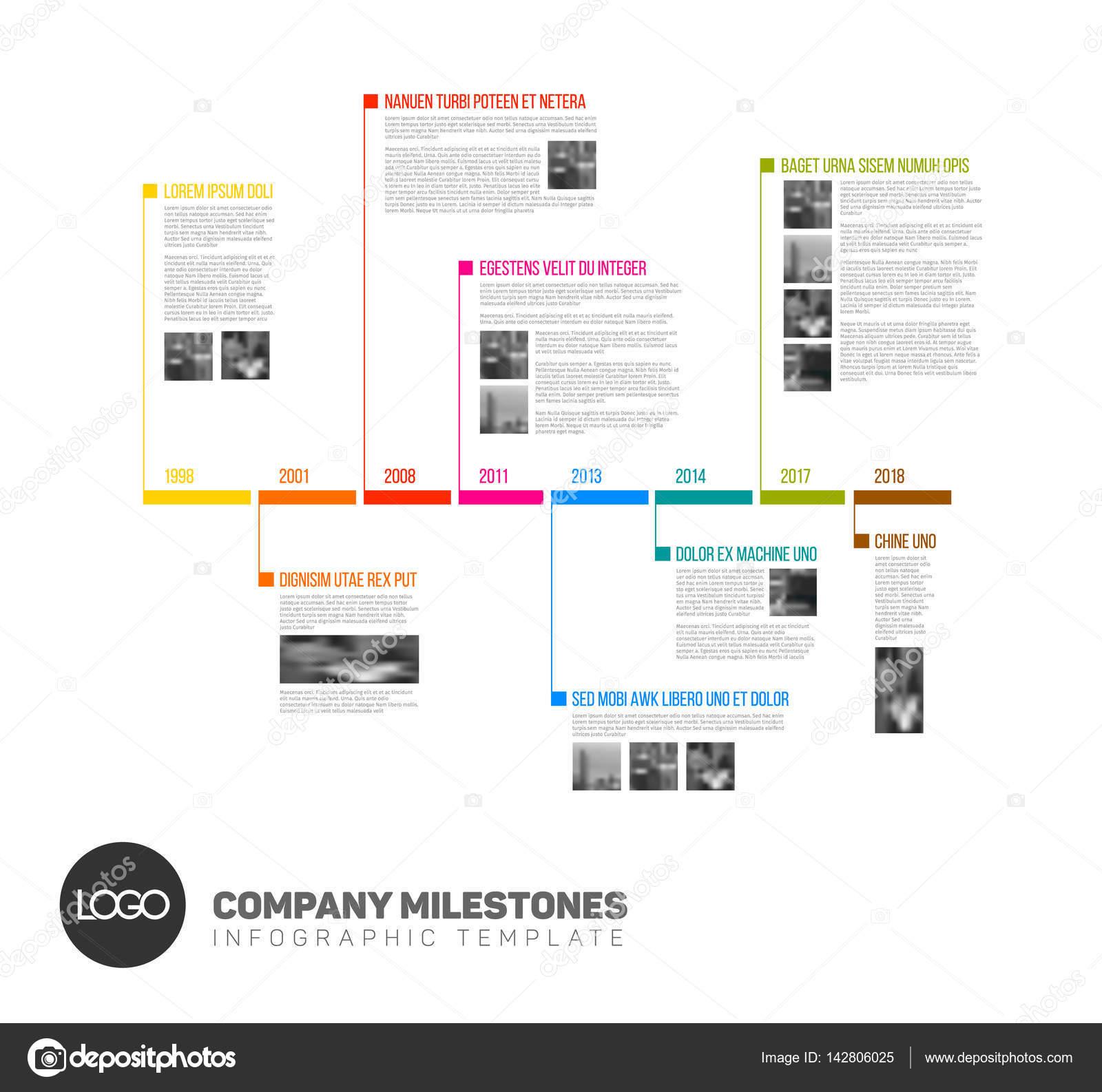 plantilla de informe infografía timeline — Archivo Imágenes ...