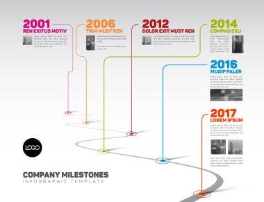 Infographic Company Milestones Timeline Template