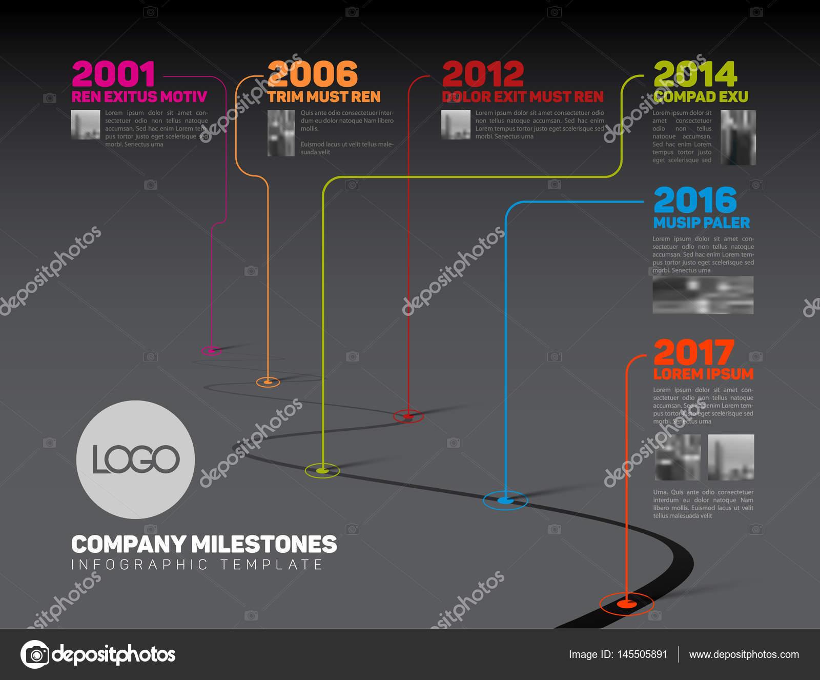 Company Milestones Timeline Template — Stock Vector © orson #145505891